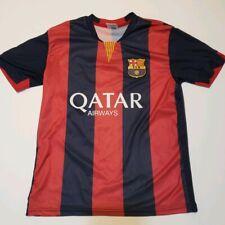 Neymar Jr Barcelona Mens Soccer Sz Medium Qatar Airways Short Sleeve Jersey