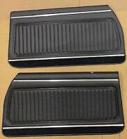 1970 Monte Carlo Door Panels Front  Black PUI Fully Assembled (IN STOCK)