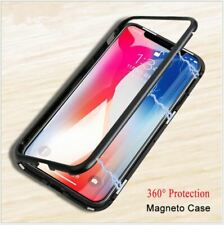 Magnetic Adsorption Slim 360° Shockproof Clear Back Case Cover For iPhone X XS