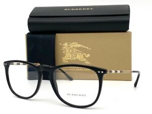 BURBERRY BE2258Q 3001 Shiny Black Demo Lens 55 Eyeglasses