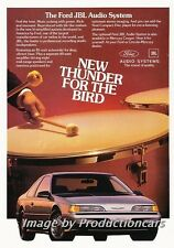 1989 Ford Thunderbird JBL Audio - Original Advertisement Print Art Car Ad J722