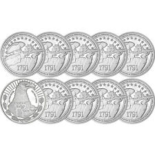 2nd Amendment 1oz .999 Fine Silver Medallion 10pc