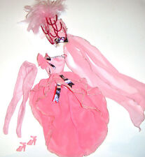 Barbie Doll Pink Showgirl Costume Outfit For Barbie Doll lc00