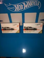 LOT OF(2) BACK TO THE FUTURE TIME MACHINE HOT WHEELS ID,LIMITED RUN COLLECTIBLES