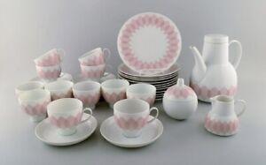 """Bjørn Wiinblad for Rosenthal. Pink """"Lotus"""" porcelain coffee service for 12 p."""