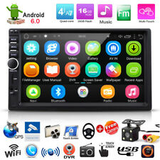 "7"" 2 DIN Autoradio Android 6.0 16GB Car DVD GPS Player TV Bluetooth + Telecamera"