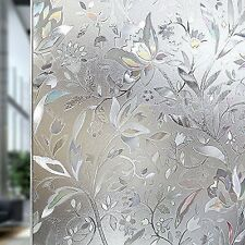 No Glue 3d Static Decorative Frosted Privacy Window Films Glass, 23.6 X 78.7in