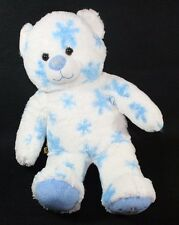Build A Bear BABW White BLUE SNOWFLAKE Winter Hugs TEDDY Plush Stuffed Animal