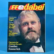 DDR FF-Dabei 49-1986 / 01.12.-07.12. C. C. Catch Kurt Böwe Göring Kiefer Krabbe