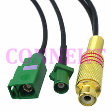 RCA TV female to Fakra E 6002 SMB male and female crimp RG174 cable pigtail 15cm
