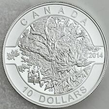 2014 $10 Down by the Old Maple Tree, ½ oz. 99.99% Pure Silver Matte Proof Coin