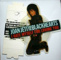 EX! Joan Jett I Hate Myself For Loving You Vinyl Picture Disc + Plinth
