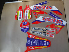 TEAM HONDA LUCAS OIL GRAPHICS CRF250R 2004 2005 2006 2007 08 09 & CRF250X PTS FL
