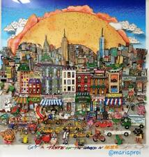 """Charles Fazzino """"Get A Taste of the World in NYC"""" H/S # 3D Serigraph"""
