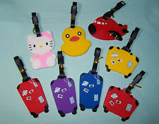 Luggage ID Tag Travel Name Holder Bag Baggage Suitcase Duck Hello Kitty Airplane
