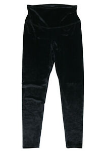 YUMMIE Women's Tummy Control Velvet Leggings sz XL X-Large Black