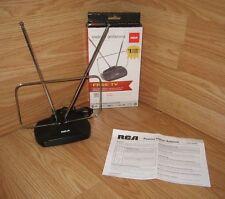 Genuine RCA (ANT112F) Black Passive Indoor TV Antenna w/ User's Guide **READ**