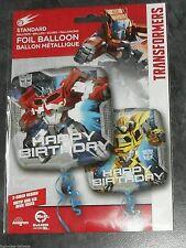 TRANSFORMERS - 17INCH SQUARE Foil Balloon (HAPPY BIRTHDAY) liquidazione STOCK