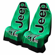 2 - Jeep Towel2Go Seat Covers -Green With Jeep Logo- Fits All Jeep Models