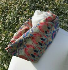 Cowl/snood Scarf in Liberty Tana Lawn 'Ianthe' red blue orange green
