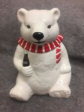 Coca Cola Coke Polar Bear Always Cool Cookie Jar Ceramic Vintage 1994