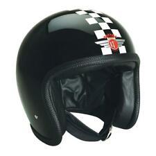 SALE | Davida 92 Open Motorcycle Helmet Tt Black White Check 2XL Press Studs