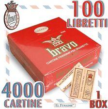 4000 Cartine BRAVO REX Corte FINISSIME REGULAR BIANCHE - 1 BOX da 100 LIBRETTI