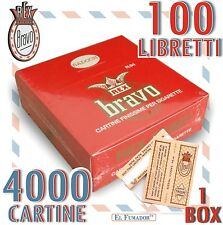 Cartine BRAVO REX Corte FINISSIME REGULAR 4000 fogli 1 BOX da 100 LIBRETTI