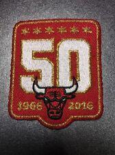 "Chicago Bulls 50th Anniversary Season Logo  Jersey Patch 2015 Red 2.25"" X 2"""