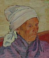 Monogrammiert MK rückseitig M Kern Dachau - Portrait einer Bäuerin ?