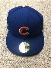 NWT New Era Chicago Cubs Royal 2016 Gold Program World Series Champions 7 5/8