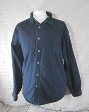 Wrangler XL flannel lined blue mens shirt jacket outdoor work cotton button down