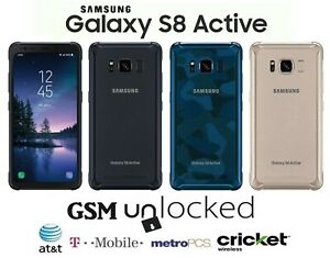 Samsung Galaxy S8 Active - 64GB (GSM Unlocked) T-Mobile AT&T MetroPCS Cricket