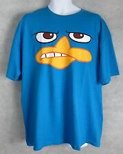 Disney Phineas and Ferb Mens T-Shirt New Perry Showing Teeth XL Free Shipping