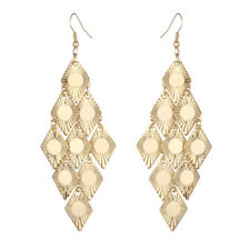Fashion Women Gold Silver Tassel Hook Long Ear Stud Dangle Drop Earrings Jewelry