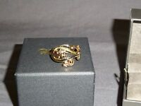 NEW Welsh Clogau 9ct Yellow & Rose Gold Am Byth Ring Size S RRP £710