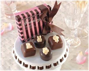 100 Wedding Sampler Chocolate Candles Wedding Bomboniere Favour