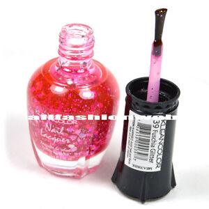 1 Kleancolor Nail Polish Lacquer #39 Fuschia Glitter Manicure Pedicure