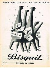 PUBLICITE ADVERTISING   1955   BISQUIT   cognac