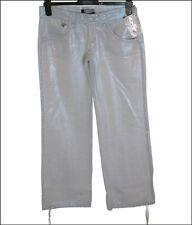 """Women's Oakley Squeeze Pant Linen Trousers Uk10 W28"""" L32"""" Metallic Blue"""
