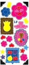 """6"""" x 13"""" Scrapbooking Sticker/Decal Sheet-Flowers/Bows"""