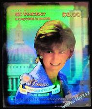 Prinzessin Diana - St.Vincent '98 - Lady Di - Hologramm - hologram - Block 466