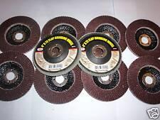 """10  4"""" ANGLE GRINDER SANDING FLAP DISC WHEEL 120 GRIT"""