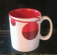 Starbucks Christmas Red Ornaments 2012 Coffee Mug 4 1/2' tall (hwy1)