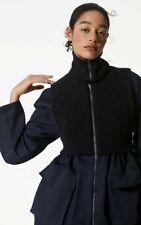 BNWT Womens Kenzo Paris Womens Navy Blue Short Parka UK 12 Zipped Coat Jacket