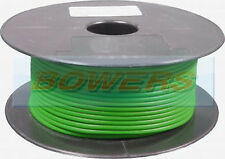 50M METRE ROLL/REEL GREEN SINGLE CORE CABLE/WIRE 8.75AMP 14 STRAND 1mm 1.00mm²