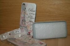 iPhone X TPU Case Bling Paris Glitters White 3D Combination Color