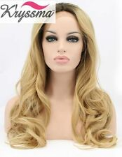 Ombré Hand Tied Wavy Wigs & Hairpieces