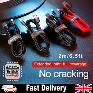 2M Premium Heavy DutyBraided Fast Charging Cable for iPhone X XS XR Xs Max 8Plus