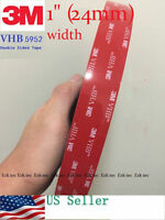 """3M 1"""" x 21 ft  VHB Double Sided Foam Adhesive Tape 5952 Automotive Mounting"""